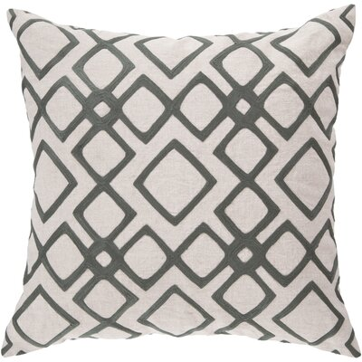 Baumgart Diamond 100% Linen Throw Pillow Cover Size: 18 H x 18 W x 0.25 D, Color: NeutralOrange