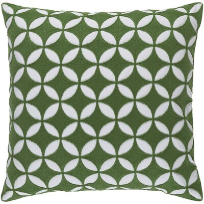 Baur Perimeter 100% Cotton Throw Pillow Cover Size: 20 H x 20 W x 1 D, Color: GreenNeutral