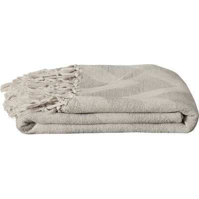Manases 100% Cotton Throw Blanket Color: Light Gray