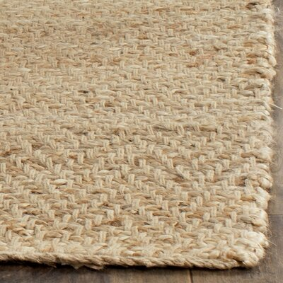 Michaels Hand-Loomed Beige Area Rug Rug Size: 2 x 3