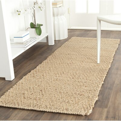 Michaels Hand-Loomed Beige Area Rug Rug Size: Runner 23 x 13