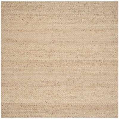 Michaels Hand-Loomed Beige Area Rug Rug Size: Square 4