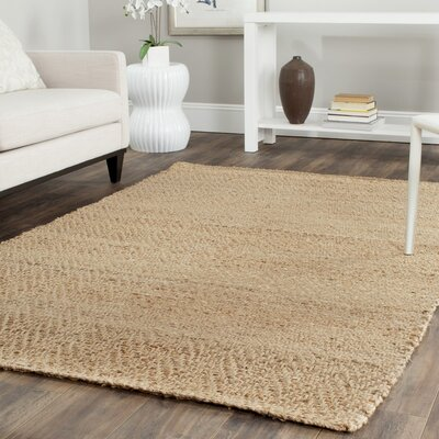 Michaels Hand-Loomed Beige Area Rug Rug Size: Square 5