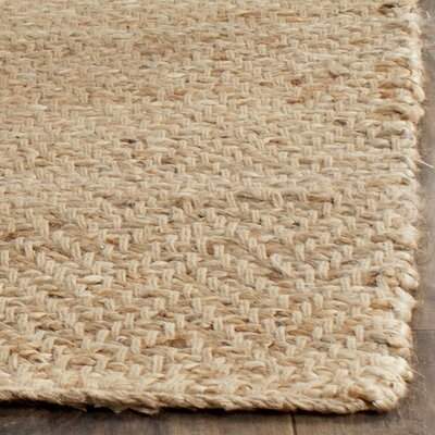 Michaels Hand-Loomed Beige Area Rug Rug Size: 6 x 9