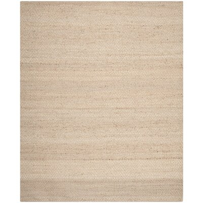 Michaels Hand-Loomed Beige Area Rug Rug Size: 9 x 12