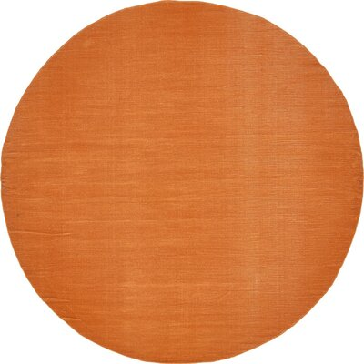 Bayswater Orange Area Rug Rug Size: Round 8