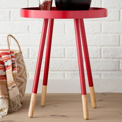 Fortney Tray Table Color: Samba Red