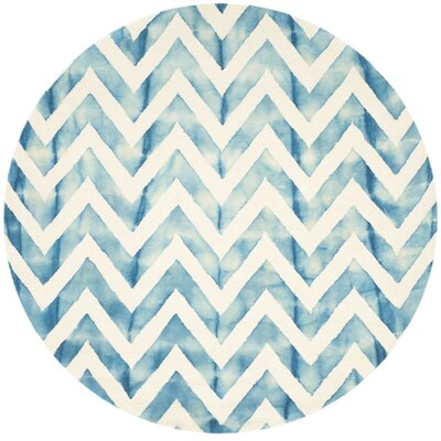 Crux Ivory/Turquoise Area Rug Rug Size: Rectangle 4 x 6