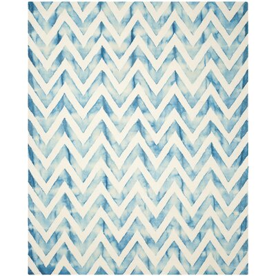 Crux Ivory/Turquoise Area Rug Rug Size: 8 x 10