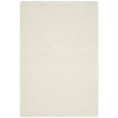 Virgo White Shag Area Rug Rug Size: Rectangle 4 x 6
