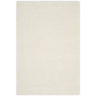 Virgo White Shag Area Rug Rug Size: 4 x 6