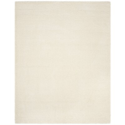 Virgo White Shag Area Rug Rug Size: Rectangle 8 x 10
