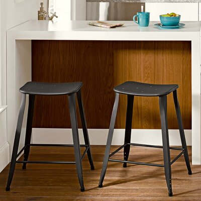 Nara 23.5 Bar Stool Finish: Black