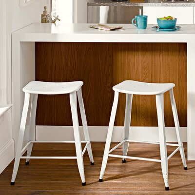 Nara 23.5 Bar Stool Finish: White