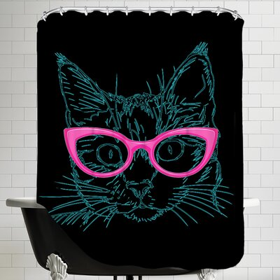 Art Work Shower Curtain Color: Black