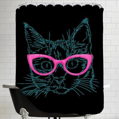 Art Work Shower Curtain Color: Black