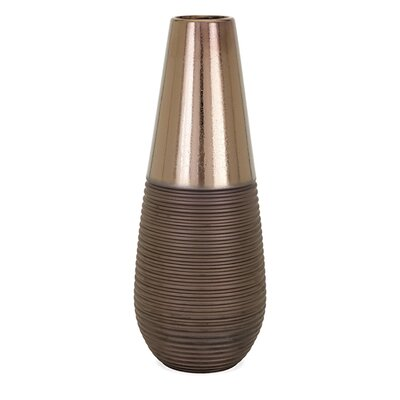 Brayden Studio Modern Brown Floor Vase