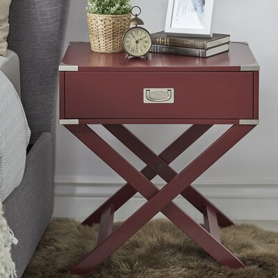 Marotta 1 Drawer End Table Color: Tawny Port