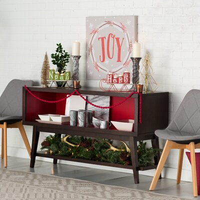 Sylvester Buffet Table Interior Color: Samba Red