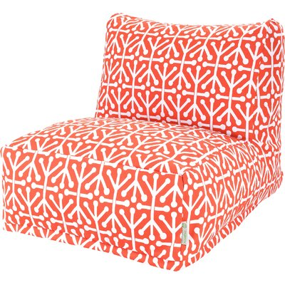 Nerys Bean Bag Lounger Upholstery: Orange