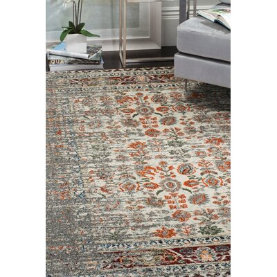 Hydra Grey / Ivory Area Rug Rug Size: Runner 22 x 8