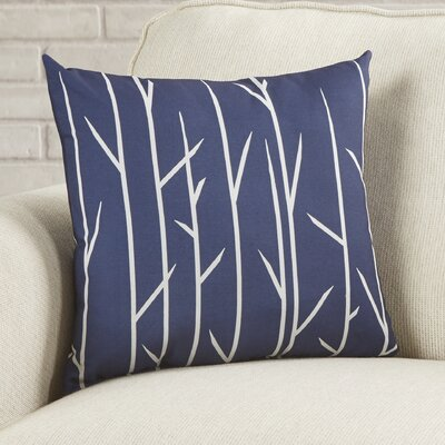Throw Pillow Size: 18 H x 18 W, Color: Spring Navy