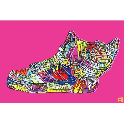 """Adidas by Jeremy Scott (Wings 2.0) Graphic Art on Wrapped Canvas Size: 12"""" H x 18"""" W x 1.5"""" D MROW4116 31885607"""