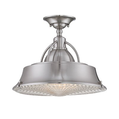Bunn 2-Light Semi-Flush Mount Finish: Brushed Nickel