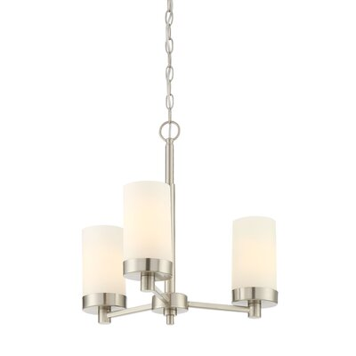 Belanger 3-Light Shaded Chandelier
