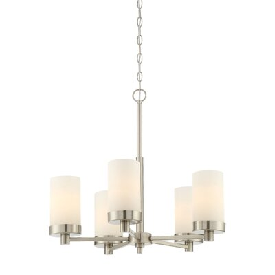 Belanger 5-Light Shaded Chandelier