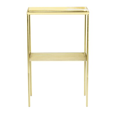 Zachariah End Table Finish: Gold