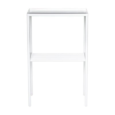 Zachariah End Table Color: White