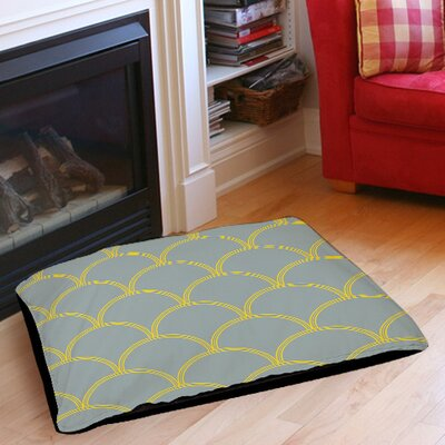 Archey Pet Bed Color: Slate / Yellow, Size: 50 L x 40 W