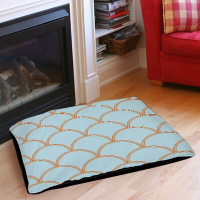 Archey Pet Bed Size: 40 L x 30 W, Color: Blue / Orange