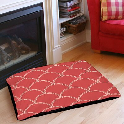 Archey Pet Bed Size: 50 L x 40 W, Color: Coral / White