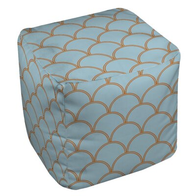 Braggs Pouf Upholstery: Blue / Orange