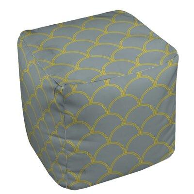 Braggs Pouf Upholstery: Slate / Yellow