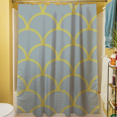 Brendan Shower Curtain Color: Slate / Yellow