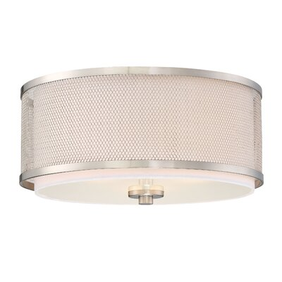 Birchfield 3-Light Flush Mount Finish: Brushed Nickel