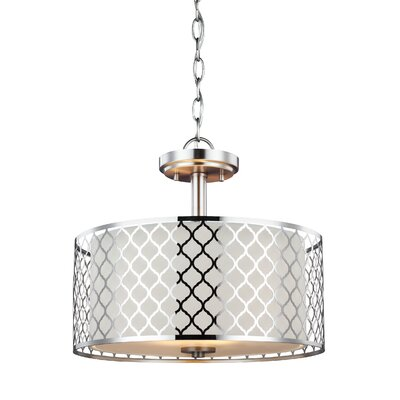 Krumm 2-Light Semi Flush Convertible Pendant