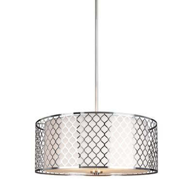 Krumm 3-Light Rod Drum Pendant