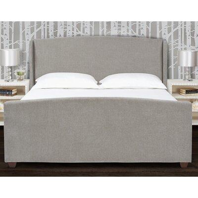 Becerra Upholstered Panel Bed Size: Queen, Color: Wood Ash