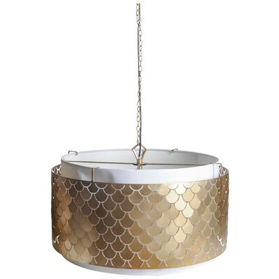 Kulik 3-Light Drum Pendant Finish: Gold