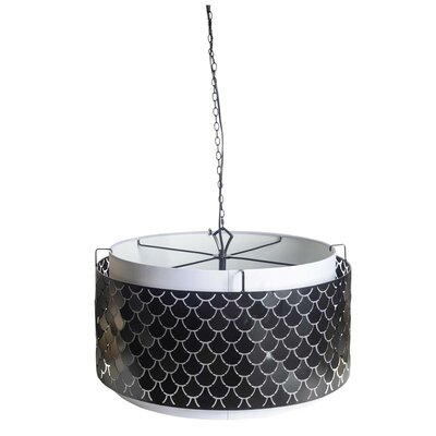 Kulik 3-Light Drum Pendant Finish: Black