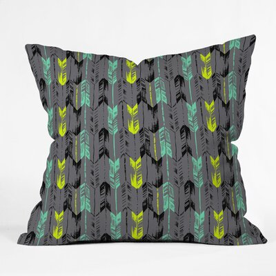 Bekasi State Arrow Line Spearmint Throw Pillow Size: 18 H x 18 W x 5 D