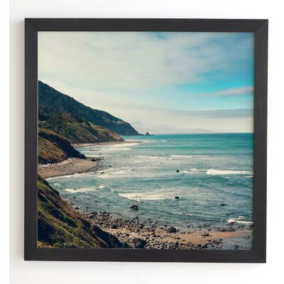 California Pacific Coast Highway Wooden Framed Photographic Print Frame Color: Black, Size: 20