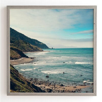 California Pacific Coast Highway Wooden Framed Photographic Print Size: 12