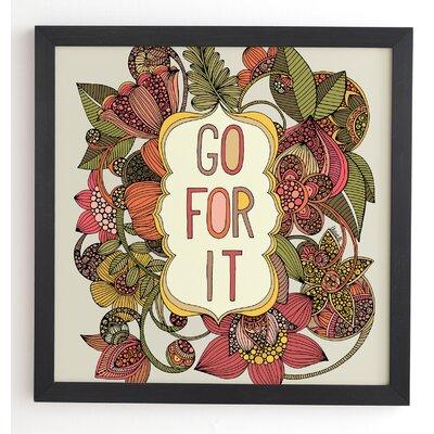 'Go For It' Framed Graphic Art Frame Color: Black, Size: 20
