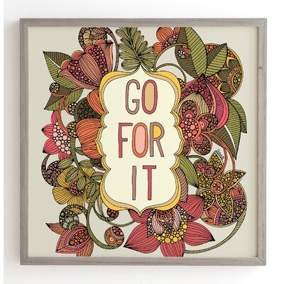 'Go For It' Framed Graphic Art Size: 12