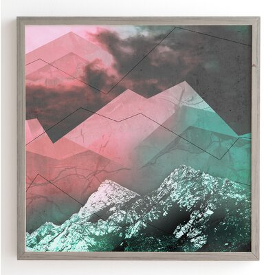 Escaping In Wonderland Framed Graphic Art Frame Color: Grey, Size: 20